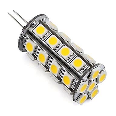 1 pieza regulable 5050 smd g4 llevó la lámpara de bombilla de maíz 30 leds 4w para gabinete de automóvil interior barco blanco cálido / frío