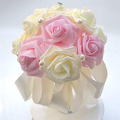Bouquets de Noiva Buquês Casamento / Festa / Noite Espuma / Cetim 8.66