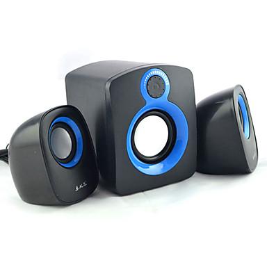 Kannettava LED-valo Stereo Tilaääni Super basso 3.5mm AUX USB Kirjahylly tietokoneen kaiuttimen Musta