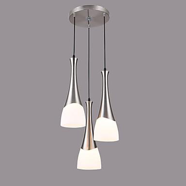 3-luz Lámparas Colgantes Luz Downlight Cromo Vidrio Vidrio Los diseñadores 110-120V / 220-240V Bombilla no incluida / E26 / E27