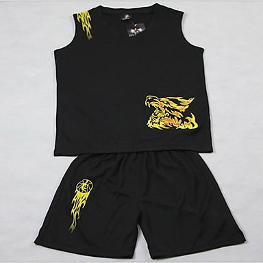男性用 半袖 バスケットボール ランニング トレーナー 洋服セット トップス バギーショーツ 高通気性 快適 モイスチャーコントロール