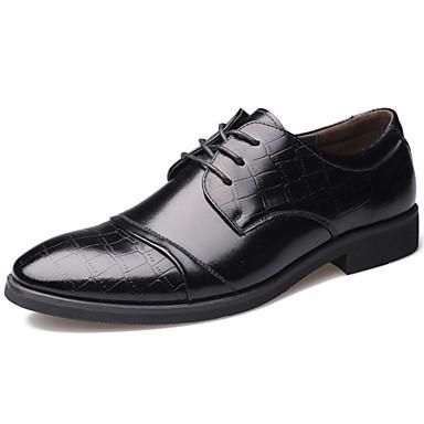 Miehet kengät Nahka Kevät Kesä Syksy Talvi Comfort Uutuus Oxford-kengät Kävely Solmittavat Käyttötarkoitus Häät Kausaliteetti Juhlat