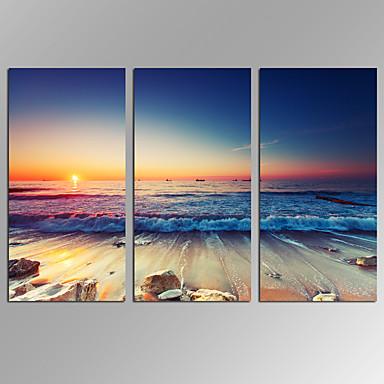 キャンバスセット 抽象的な風景画 Modern,3枚 キャンバス 横長 版画 壁の装飾 For ホームデコレーション