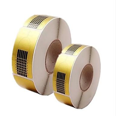 500kpl manikyyritarvikkeet paperinpidike neliö paperi akryylit jatke paperi valohoitoa ulottuvat paketin