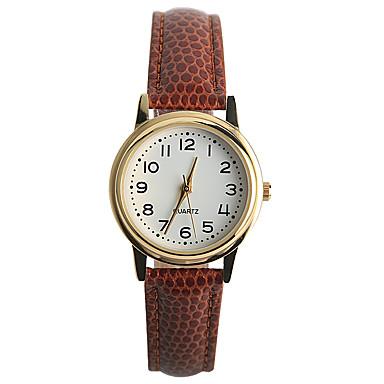 Damen Modeuhr Armbanduhren für den Alltag Quartz / PU Band Freizeit Braun