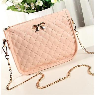 女性 バッグ PU ショルダーバッグ のために カジュアル ホワイト ブラック ピンク