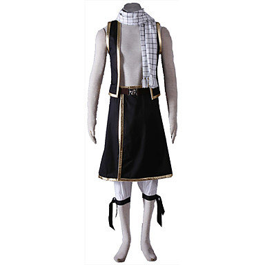 Inspiriert von Fairy Tail Cosplay Anime Cosplay Kostüme Cosplay Kostüme Solide Weste Armband Gürtel Mehre Accessoires Unterhose Schal Für