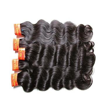 Menschenhaar spinnt Malaysisches Haar Große Wellen 18 Monate 1 Stück Haar webt