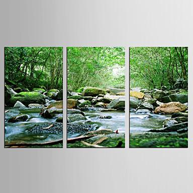 Canvas Set Maisema Kukkakuvio/Kasvitiede Moderni Realismi,3 paneeli Kanvas Pystysuora Tulosta Art Wall Decor For Kodinsisustus
