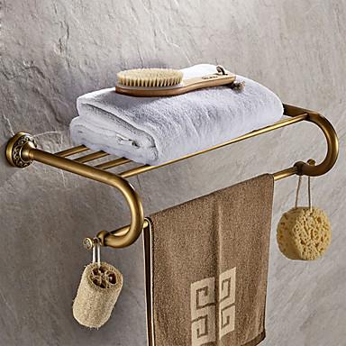 رف الحمام أنتيك نحاس 1 قطعة - حمام الفندق مزدوج