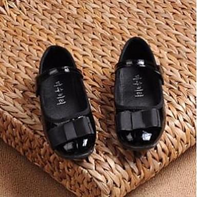女の子 靴 PUレザー コンフォートシューズ フラット 用途 カジュアル ブラック レッド