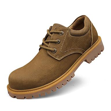 Homens Sapatos de couro Pele Primavera / Outono Conforto Oxfords Antiderrapante Amarelo / Camel