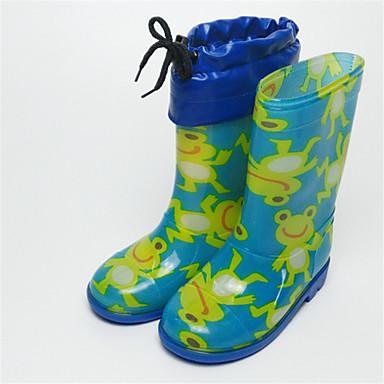 Tyttöjen kengät PVC Talvi Syksy Kumisaappaat Jelly Bootsit varten ulko- Sininen Pinkki Vaalean sininen Vaalea vaaleanpunainen
