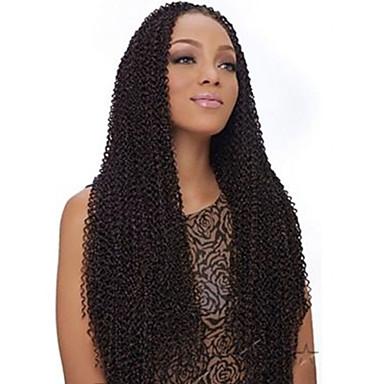 ディープツイスト 100%カネカロン髪 カーリーブレイズ / 人毛エクステンション 髪の三つ編み 日常