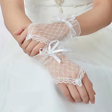 longueur de poignet net gant gants de mariée classique style féminin