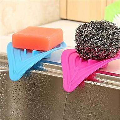 1pcs 14cm * 8cm Mehrzweck- kreative Küchenschwämme und Bad förmige Vernässung durch übermäßige Niederschläge Gerät zufällige Farbe