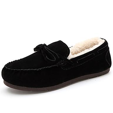 Miehet kengät PU Kevät Syksy Comfort Mokkasiinit Veneilykengät Ruseteilla Käyttötarkoitus Kausaliteetti Musta Keltainen Laivaston sininen
