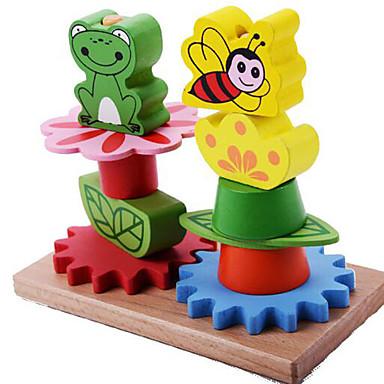 ブロックおもちゃ 知育玩具 ストレス解消グッズ おもちゃ 円筒形 カエル アイデアジュェリー ウッド 男の子 女の子 1 小品