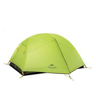 Naturehike 2人 テント ダブル キャンプテント 1つのルーム テント 保温 防湿 通気性 防水 携帯用 防風 防雨 折り畳み式 3 季節 のために 狩猟 ハイキング キャンピング 屋外 旅行 アルミ キャンバス cm