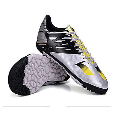 billige Fotballsko-Fotballsko TPR Fotball Anti-Skli, Anti-Ryste / Demping, Pustende PVC Lær Sølv / Gul / Blå