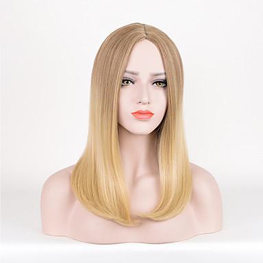 Synthetische Perücken Glatt Blond Damen Karnevalsperücke Halloween Perücke Natürliche Perücke Kurz Synthetische Haare