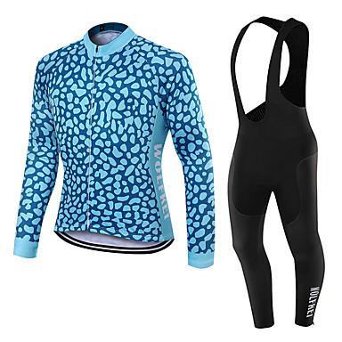 WOLFKEI Langärmelige Fahrradtrikot mit Trägerhosen Unisex Fahhrad Kleidungs-Sets/AnzügeAtmungsaktiv warm halten Rasche Trocknung