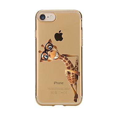 Etui Käyttötarkoitus Apple iPhone X iPhone 8 iPhone 5 kotelo iPhone 6 iPhone 7 Läpinäkyvä Kuvio Takakuori Eläin Pehmeä TPU varten iPhone