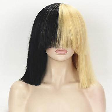 Synteettiset peruukit Suora Kinky Straight Tiheys Suojuksettomat Naisten Vaaleahiuksisuus Carnival Peruukki Halloween Peruukki Julkkis
