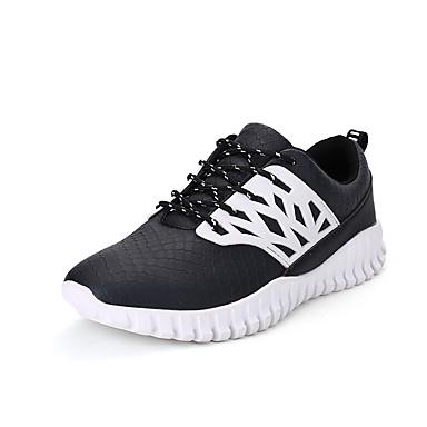 Herren-Sportschuhe-Outddor Lässig-KunststoffKomfort-Schwarz Weiß