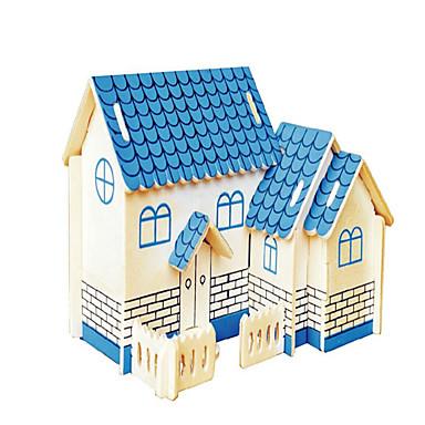 voordelige 3D-puzzels-Houten puzzels Vliegtuig Huis professioneel niveau Hout 1 pcs Jongens Meisjes Speeltjes Geschenk