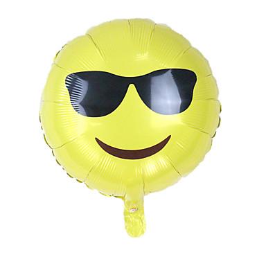 voordelige Ballonnen-Ballonnen Emoji Creatief Noviteit Aluminium Jongens Meisjes Speeltjes Geschenk