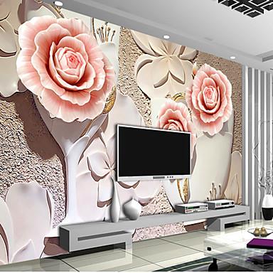 Cvjetni print Početna Dekoracija Luksuz Zidnih obloga, Other Materijal Ljepila potrebna Mural, Soba dekoracija ili zaštita za zid