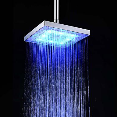 معاصر دش المطر الكروم ميزة - زخة المطر صديقة للبيئة LED, رئيس دش