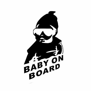 Funny Baby on Board Car Sticker Car Window Wall Decal Car Styling