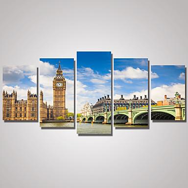 Berühmte Landschaft Modern Realismus,Fünf Panele Leinwand Horizontal Druck Wand Dekoration For Haus Dekoration