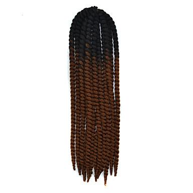 Twist Braids Haarzöpfe Havanna Geflochtene Haarzöpfe 56cm 100 % Kanekalon-Haar Black / Dark Auburn Geflochtenes Haar Haarverlängerungen