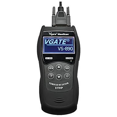 vs890 többnyelvű autó-kód olvasó automatikus diagnosztikai szkenner - fekete