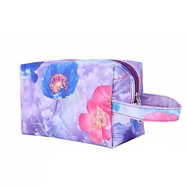 Meikkilaukku Meikkien säilytys Kukka Quadrate Nylon