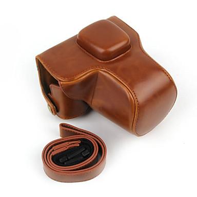 dengpin® retro pu lederen oliehuid camera case voor Olympus PEN E-PL7 met 17mm / 14-42mm lens