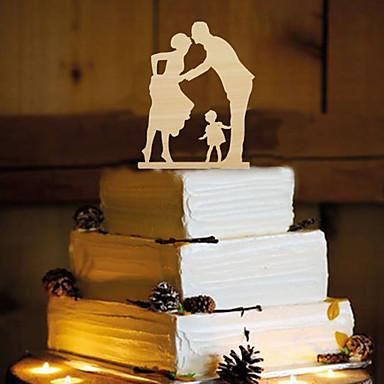 Tortenfiguren & Dekoration Schmetterling Klassisches Paar Harz Hochzeit mit 1 pcs OPP