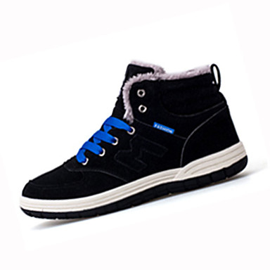 Hombre Zapatos Confort Tejido Otoño / Invierno Botas Paseo Antideslizante Negro / Azul Marino / Verde Oscuro