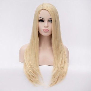 fc133437923 Synthetic Wig Straight Blonde Synthetic Hair Blonde Wig Women s Long   Very  Long Capless