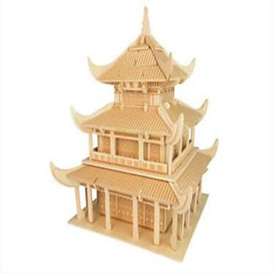 Puslespill i tre Kjent bygning Kinesisk arkitektur profesjonelt nivå Tre 1pcs Barne Gutt Gave