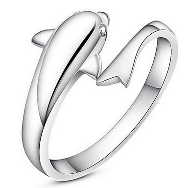 指輪 / 日常 カジュアル ジュエリー 合金 女性 指輪 1個,ワンサイズ シルバー