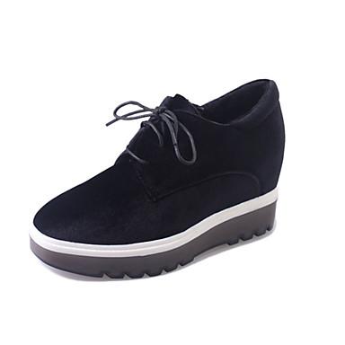 Damen-Sneaker-Lässig-PU-Niedriger Absatz-Komfort-Schwarz Grün