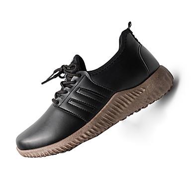 Herren-Sneaker-Lässig-PU-Flacher Absatz-Komfort-Schwarz Braun