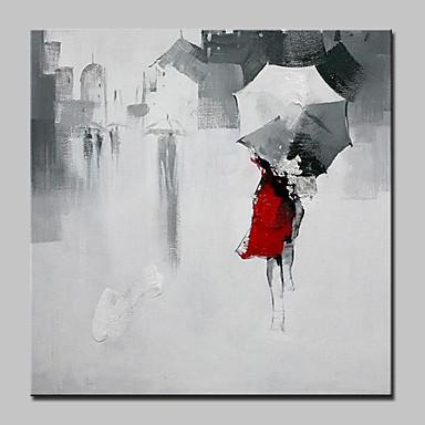 Hang malte oljemaleri Håndmalte - Mennesker Europeisk Stil Moderne Lerret