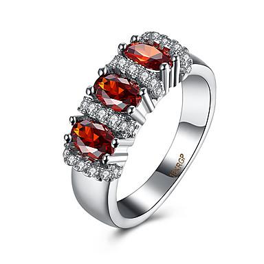 Damen Ring Kubikzirkonia Luxus Zirkon Kupfer Titanstahl Diamantimitate Schmuck Party Alltag Normal