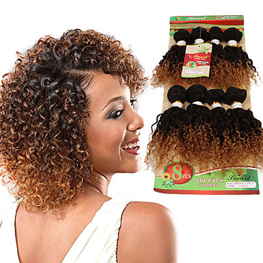Ombre Hair Weaves Hair Bulk Curly Curly Weave Synthetic Hair Human