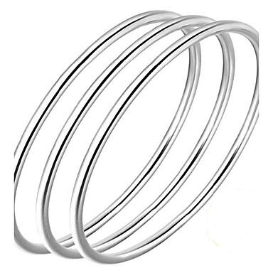 billige Motearmbånd-Herre Dame Armringer Kjærlighed Enkel Natur Enkel Stil Sølv Armbånd Smykker Sølv Til Bursdag Gave Valentine